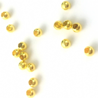 50 Gold Plated Memory Wire End Cap Beads 3mm